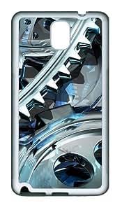 3D Gear Design TPU Custom Samsung Galaxy Note 3/Note III/N9000 Case and Cover - White