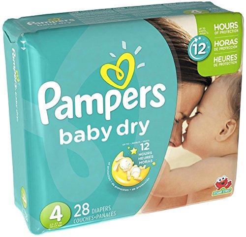 Pampers Baby Dry Diapers - Size 4 (28 ct) (Kids Sunshine Snug)