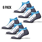 Thirty 48 Running Socks for Men and Women -CoolMax Fabric Keeps Feet Cool and Dry 6 Pack Blue/Gray Medium