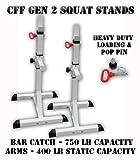 CFF Squat Stands Gen 2 - 750 LB Capacity