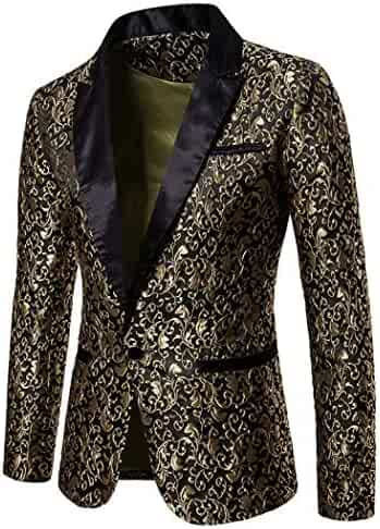 0ff6f2fd10 Mens Suit Floral Party Dress Suit Stylish Dinner Tuxedo Jacket Wedding  Blazer
