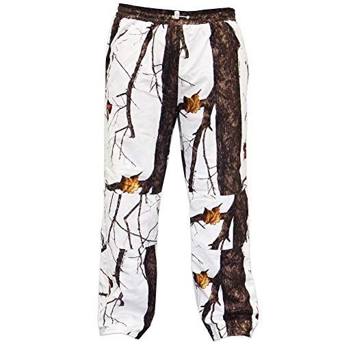 Camo Hunting Snow (Wildfowler Outfitter Men's Waterproof Pants, Wild Tree Snow, X-Large)