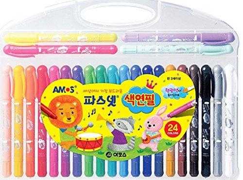 Amos Pasnet Twistable Soft Crayon Colored Pencils(24 - Amo Mall De