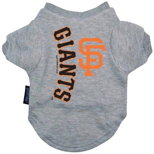 Hunter MLB San Francisco Giants Ash Team Logo Pet T-Shirt (Medium)