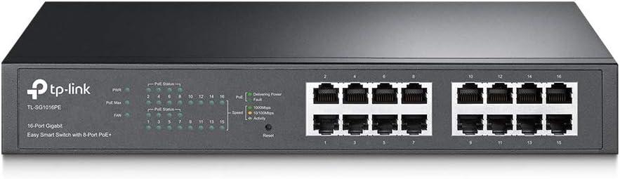 16 Port Gigabit Switch with 8 POE