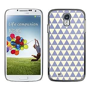 Patrón Polígono Limpio Azul Beige - Metal de aluminio y de plástico duro Caja del teléfono - Negro - Samsung Galaxy S4
