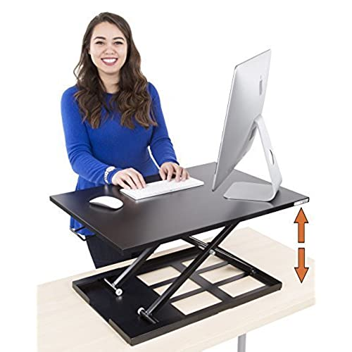 Captivating Standing Desk   X Elite Pro Height Adjustable Desk Converter   Size 28in X  20in Instantly Convert Any Desk To A Sit / Stand Up Desk (Black) Nice Design
