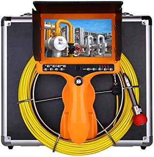 Eyoyo Handheld 35M 115ft Pipe Pipeline Sewer Inspection Camera, Portable Drain Plumbing Wall Industrial Endoscope Waterproof IP68 Snake Video System with 7 Inch LCD Monitor 1000TVL Camera DVR Recorder