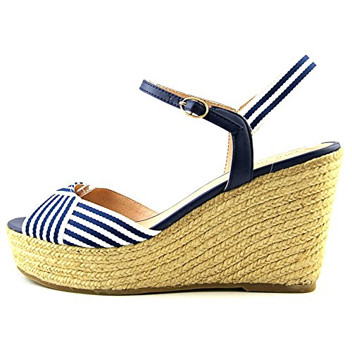 Nine West Breeze Donna Tessile Sandalo con la Zeppa