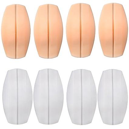 Healifty 4 pares de sujetador de silicona sujetadores de almohadones sujetador antideslizante almohadones almohadillas Protectores de