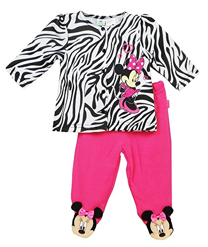 [Disney Minnie Mouse Zebra Infant Girls' 2pc Top and Pant Set (6/9 Months)] (Minnie Mouse Outfit For Babies)