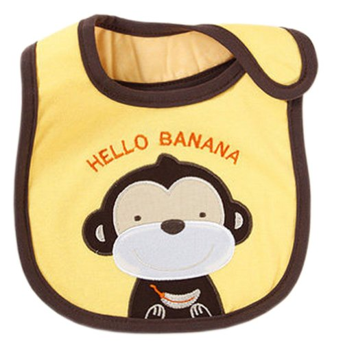 Monkey Toddle Burp Cloths Infant Baby Waterproof Bibs Neat Solutions Set of 3 ()