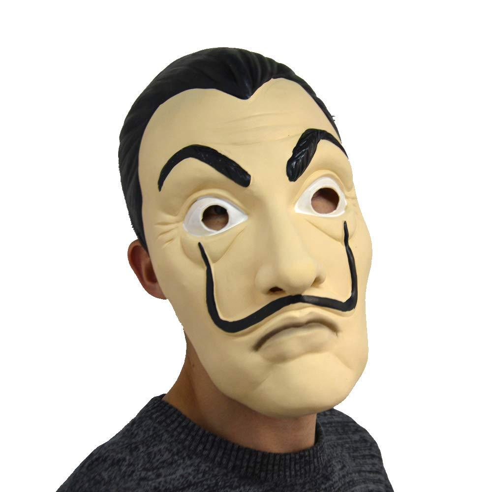 CoserWorld Half Face Salvador La Casa De Papel Card House Dali Mask Party Cosplay Show Props