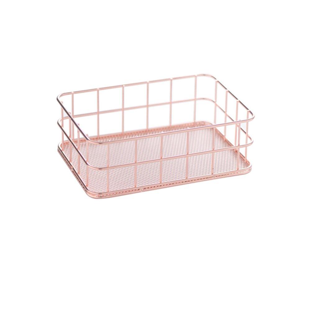 Rose gold Plating Metal Cosmeticsjewelryorganizer holder Fruittrays Decorative jewelry trays Metal storage basket storage box fruit finishing-D 9x10cm(4x4inch) MJDHHFBFBHCGJMB