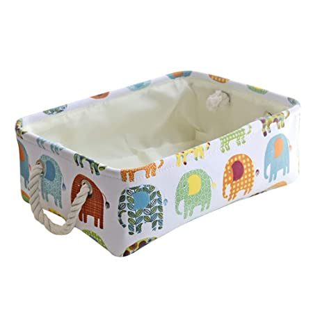 Letter O Inwagui White Cotton Laundry Basket Nursery Laundry Hamper Collapsible Storage Basket For Bedroom Bathroom