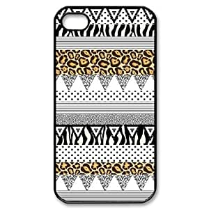 tribal print pattern arts black white aztec Case For iPhone 4/4s Black by icecream design