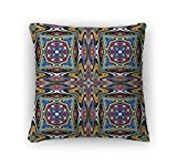 Gear New Zippered Modern Mexican Textile Design Square Pillow