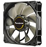 Enermax Twister Pressure 120mm High Static Pressure PWM Twister Bearing Case Fan with Smart Adjustable Peak Speed control providing 3 peak rpm options, UCTP12P