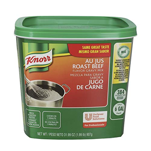 Knorr Professional Au Jus Roast Beef Gravy Mix Easy Prep, No added MSG, 1.99 lbs, Pack of 4