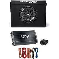 Kicker 43TC104 10 300W Loaded Car Audio Subwoofer + Sub Box +Amplifier +Amp Kit