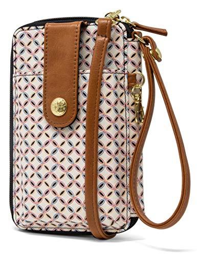 MUNDI Jacqui Vegan Leather RFID Womens Crossbody Cell Phone Purse Holder Wallet (Clean & Crisp) ()