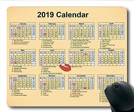 Calendario Con Festivita Del 2020.Yanteng Calendario Del Mouse Del Calendario 2019 2020