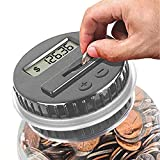 Digital Coin Bank, HeQiao Clear LCD Piggy Bank