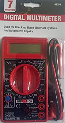 7 Function Digital Multimeter by Harbor Freight