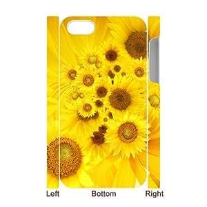LZHCASE Design Diy hard Case Sunflower For Iphone 4/4s [Pattern-1]