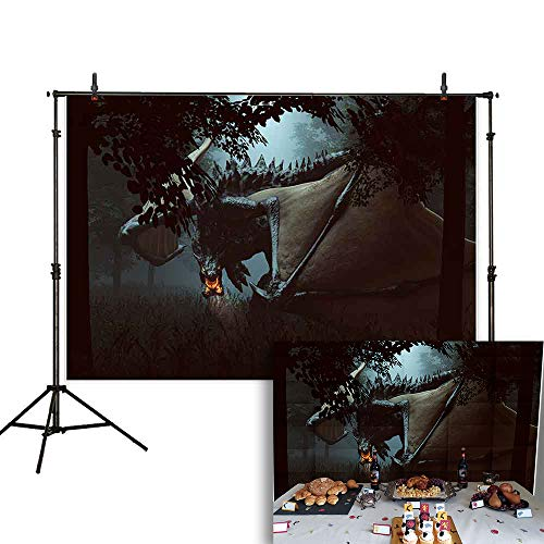Allenjoy 7X5ft Halloween Photography Backdrop Dark Scary Forest