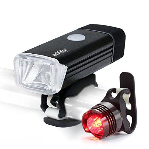 LED Fahrradlicht Fahrradbeleuchtung Fahrad Lampe Scheinwerfer Wiederaufladbare