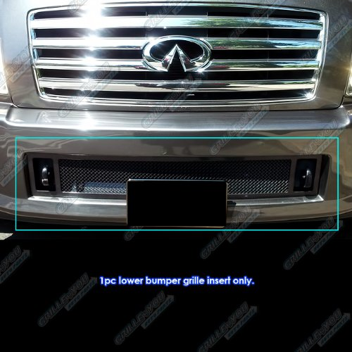 APS N75448H Black Powder Coated Grille Replacement for select Infiniti QX56 Models