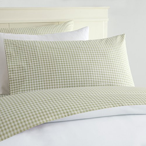 Gingham Sheet Set Queen Green product image