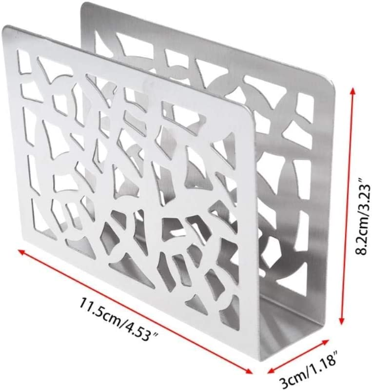 Edelstahl Serviettenhalter Box Tissue Box Besteck Hohl Designtisch JiangKui 1