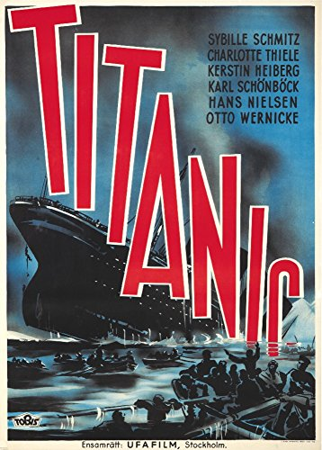 Titanic Vintage Poster Sweden c. 1943 Collectible Art Print, Wall Decor Travel