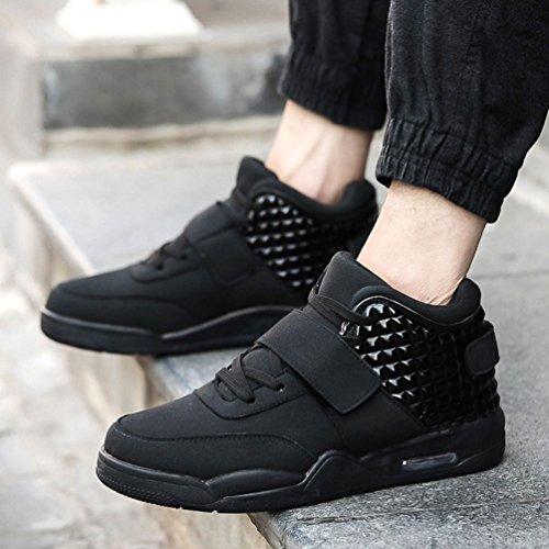 pour Compétition PU Trail Chaussure Sneakers 39 Mode Sport Semelle 44 Mesh Basket Léger Homme Noir de Scratch Lacets Antidérapant RYqFxF8