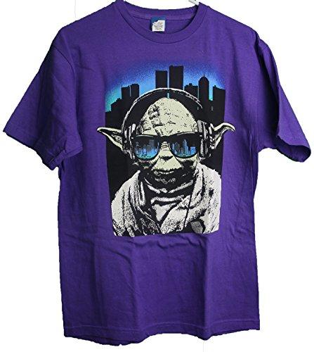 Star Wars Yoda wearing Sunglasses Art Graphic Adult T-Shirt - With Yoda Sunglasses