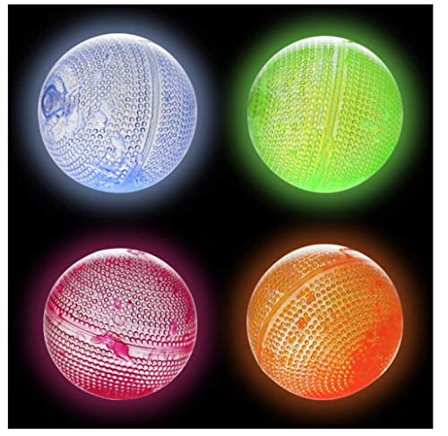Play Glow Rubber Glowing Bouncing Balls, 2.5 in. - Set of 4 -