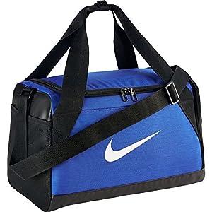 Nike Brasilia (Extra-Small) Duffel Bag Black/White Size X-Small (Game Royal/Black/White)