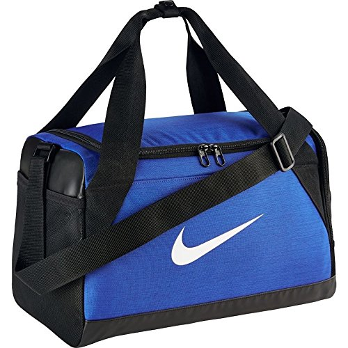 Nike Brasilia (Extra-Small) Duffel Bag Black/White Size X-Small (Game Royal/Black/White)