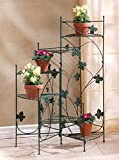 Garden Planters Multi Tiered Decor Patio Corner Potted Plants Stand Indoor Outdoor Light Tall Metal Decorative