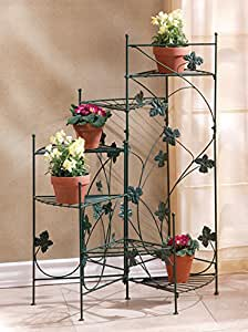garden planters multi tiered decor patio corner potted plants stand indoor outdoor. Black Bedroom Furniture Sets. Home Design Ideas