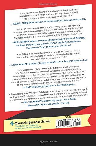 Merger Masters: Tales of Arbitrage (Heilbrunn Center for Graham & Dodd Investing Series)