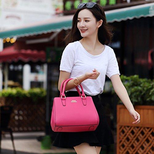 Yoome Stile Vita Stile Motivo Croce Top Handle Satchel Portafoglio Borse Donna Borse Chic Chic Crossbody - Rosa