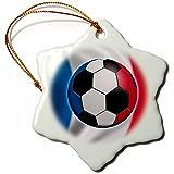 3dRose ORN%5F155051%5F1 France Soccer Ba