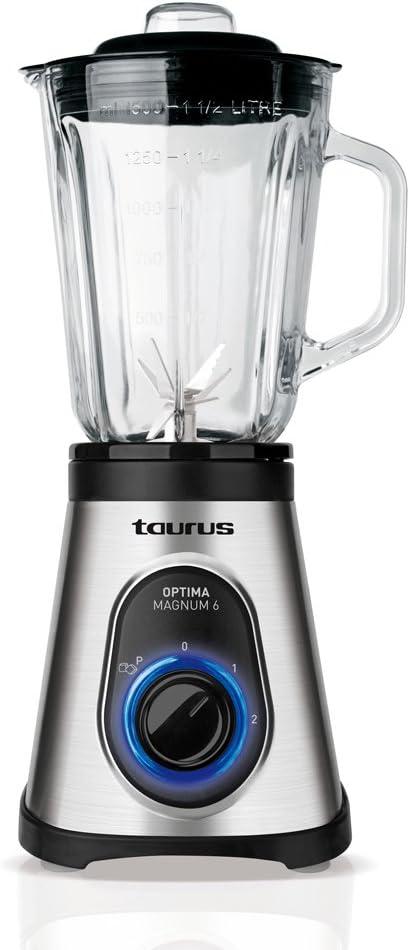 Taurus Optima Magnum 6 Batidora de vaso, 600 W, vidrio, 2 ...