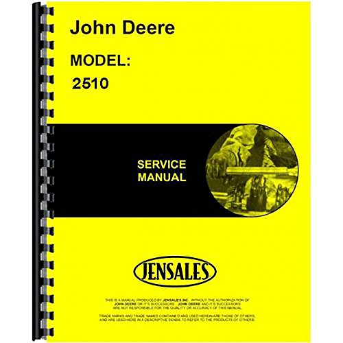 New Service Manual For John Deere 2510 Tractor