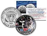 APOLLO 11 MOON LANDING *45th Anniversary* Colorized JFK Half Dollar US Coin NASA
