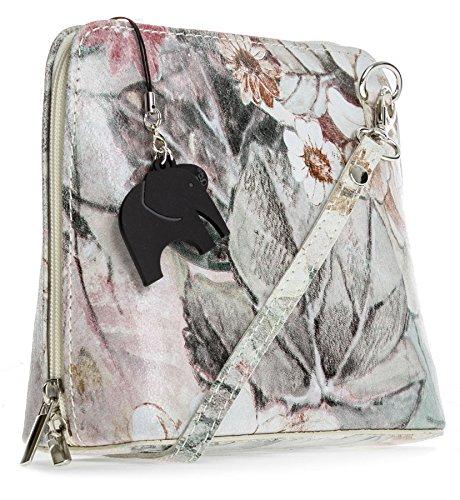 Big Handbag Shop - Bolso cruzados de Piel para mujer Talla única Floral - Beige