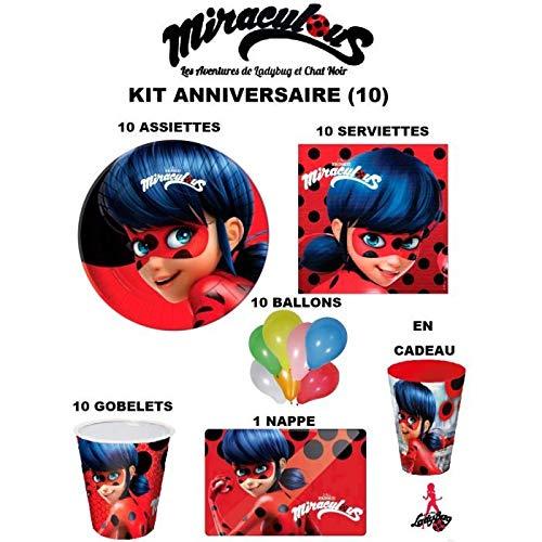Kit de cumpleaños de Miraculous: Las aventuras de Ladybug ...